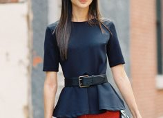 Блузка с баской: 16 фото, как и с чем носить