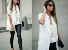 Кожаные лосины: 14 фото, с чем носить