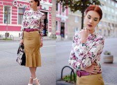 Блузка с цветочным принтом: 15 модных образов