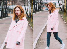 Пальто до середины бедра — 16 модных фото-образов