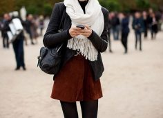 Замшевая юбка: 33 стильных образа, с чем носить в 2019