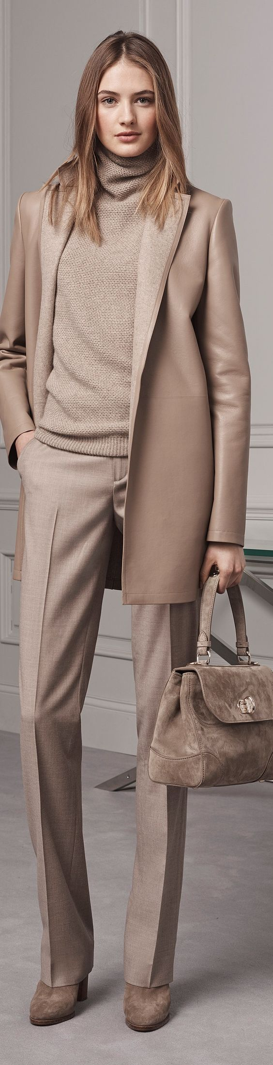 Свитер с классическими брюками