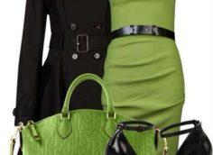 С какими цветами одежды сочетается зеленый?