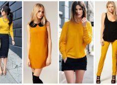 С какими цветами одежды сочетается горчичный?