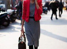 14 фото, с чем носить красный пиджак