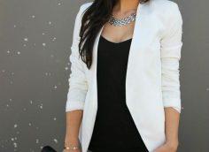 С чем носить белый пиджак: 18 фото