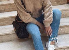 30 образов, с чем носить свитер осенью 2019