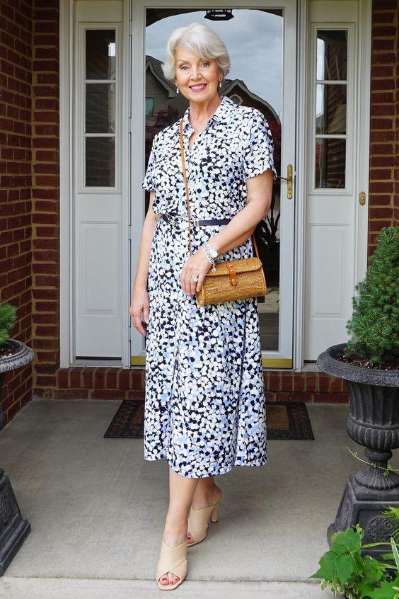 Фасоны платьев для женщин 60 лет на примере знаменитостей
